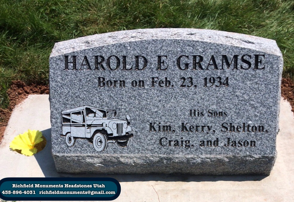 Gramse Slant Headstone