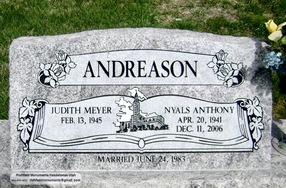 Andreason Slant Headstone
