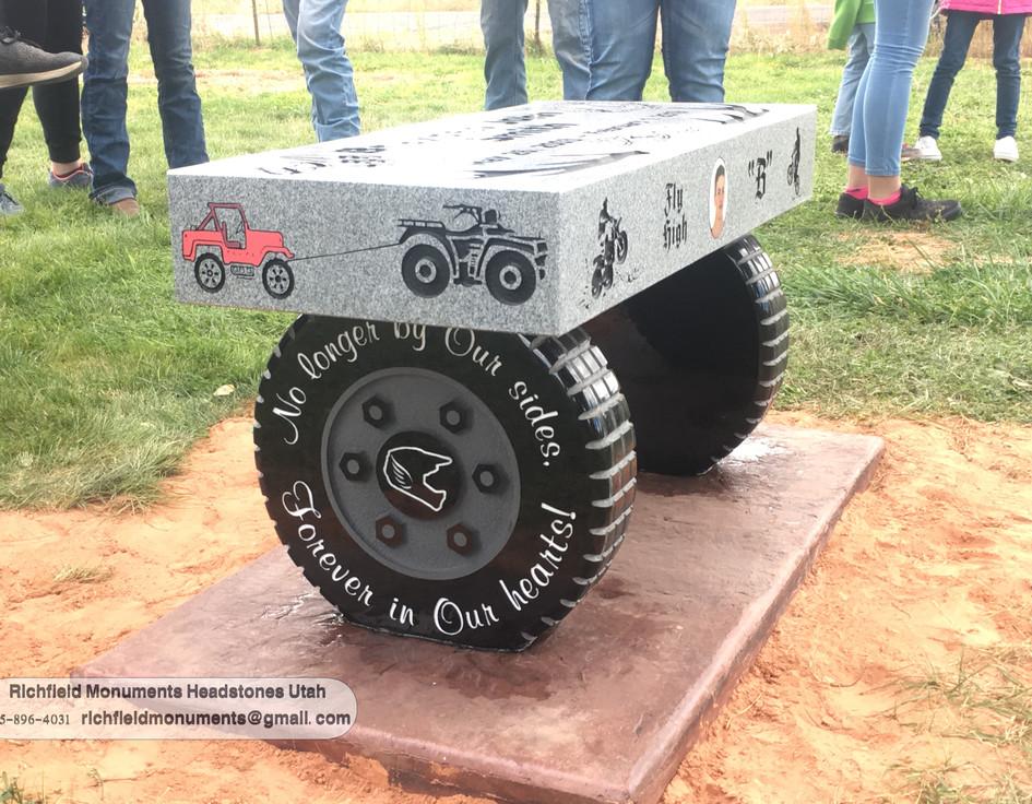 2019 custom wheel tire bench light grey