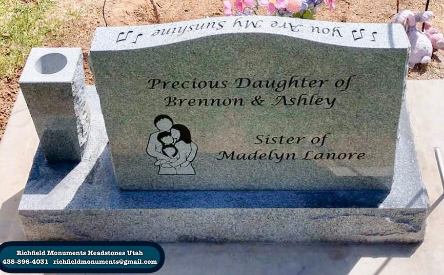 Lanore Slant Headstone