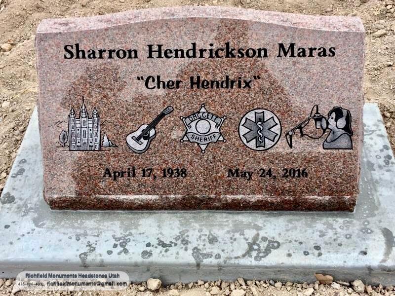 Maras Slant Headstone