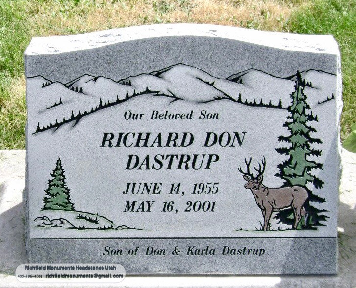 Dastrup Slant Headstone