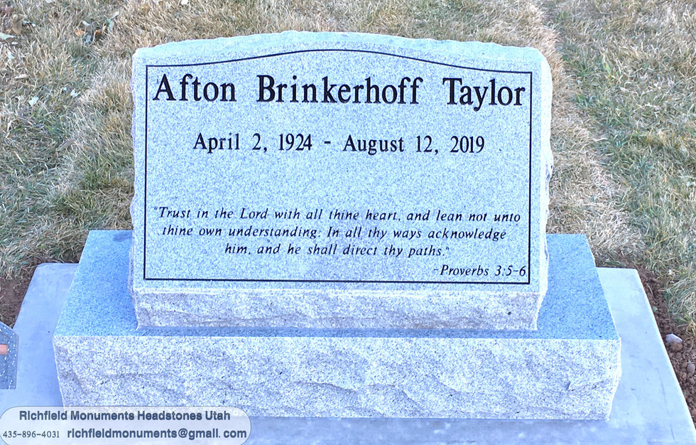 Taylor Slant Headstone