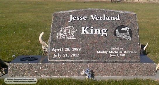 King Slant Headstone