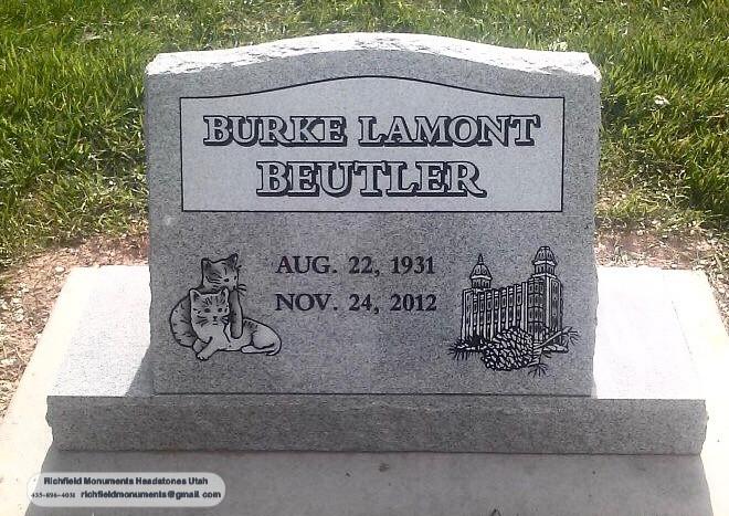 Beutler Slant Headstone