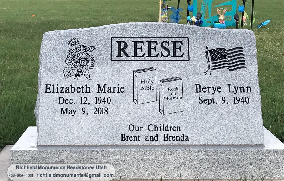 Reese Slant Headstone
