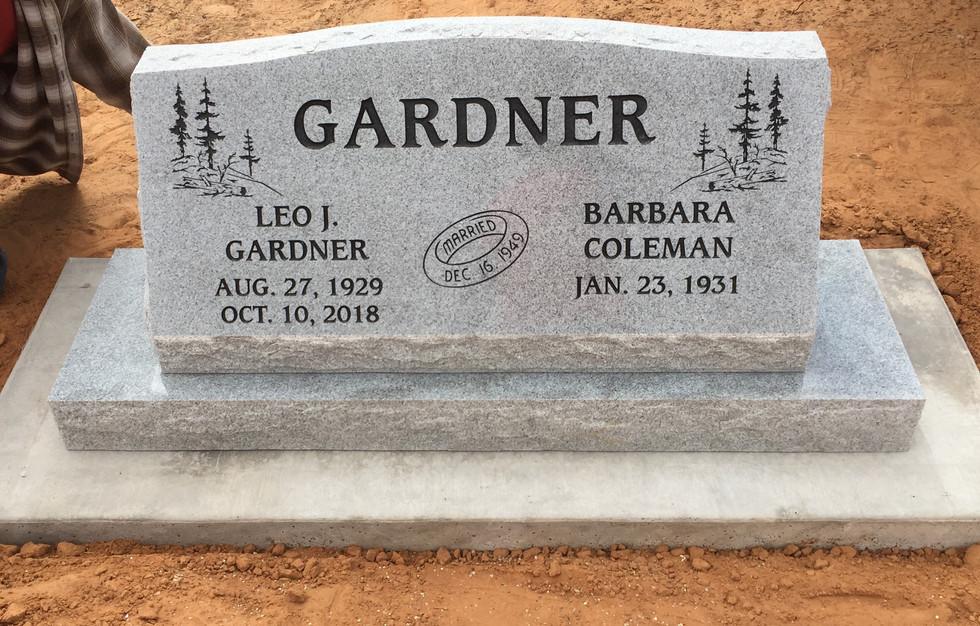 Gardner Slant Headstone