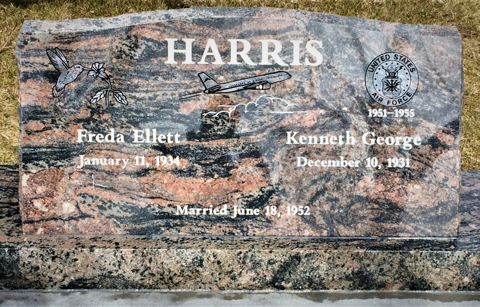 Harris Slant Headstone