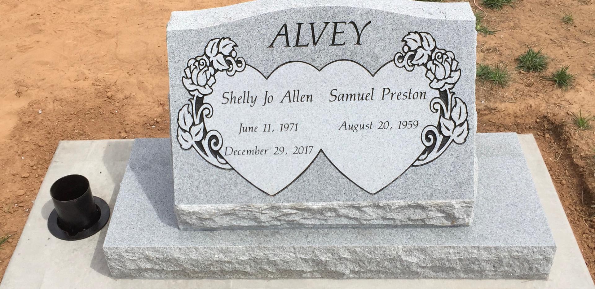 Alvey Slant Headstone
