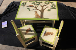 Cat & Dog Chair & Table Set