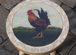 Rooster Step Stool