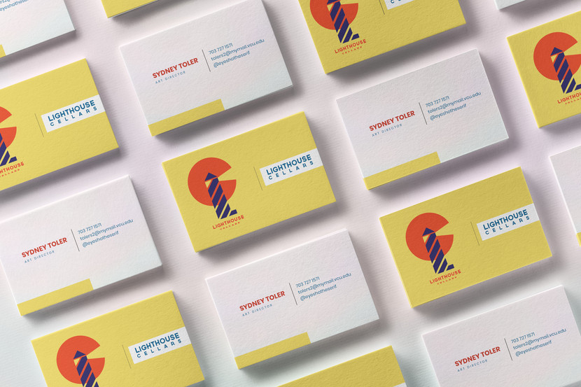Lighthouse Cellars business cards