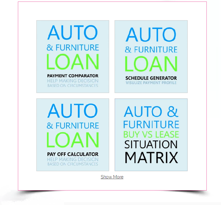 Auto & Furniture Loan Tools