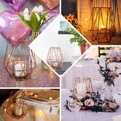 Geometric Metal Wired Candle Holder
