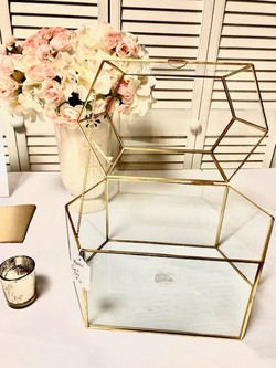 Gold & Glass Card Box