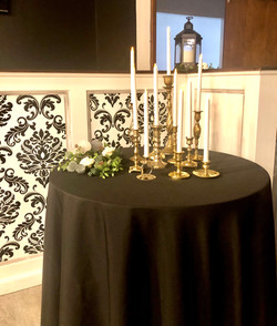 Mixed Brass Taper Candle Holders