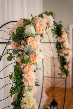 Ceremony Arch with Flowers