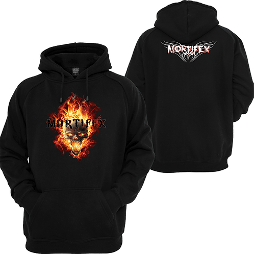 Mortifex Pullover Hoodie-2 sided print-Full Color Logo (front)/Wings Logo (back)