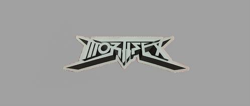 Mortifex Logo Die-Cut Sticker (Clear)