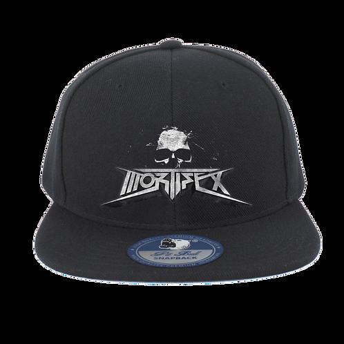 Mortifex - Flat Bill FlexFit Hat - Black with Mortifex 3D logo