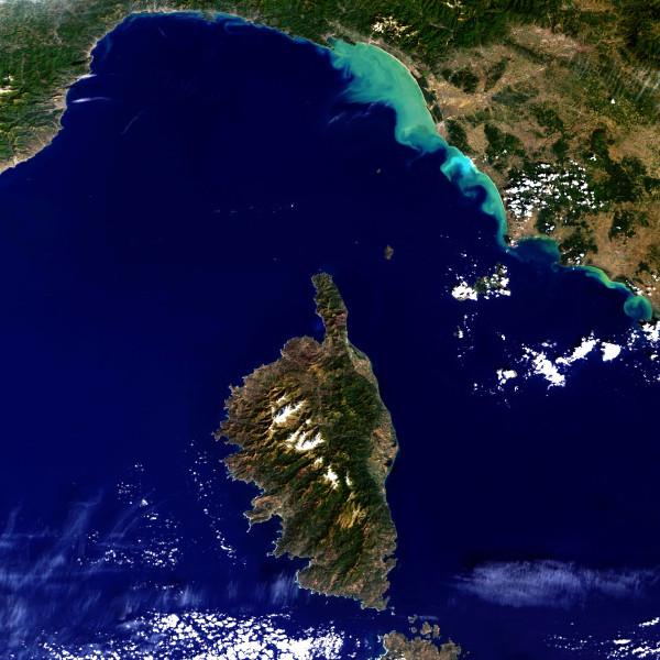 La Corse, vue satellite