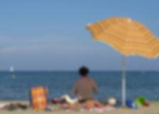 parasol en été
