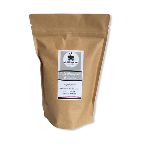 Café déca Colombie en grain ou moulu