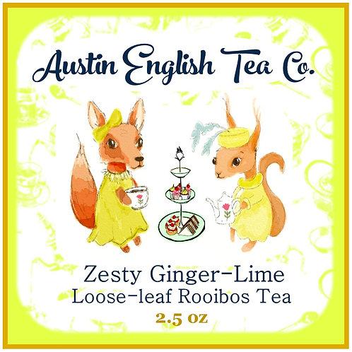 Zesty Ginger Lime Loose Leaf Rooibos Tea
