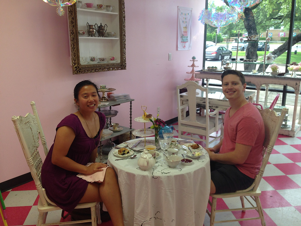This lovely couple had been out enjoying a relaxign Sunday exploring Austin and pampering themselves. They decided to finish off the day with Afternoon Tea- As Afternoon tea connoisseurs, it was a pleasure to serve them.