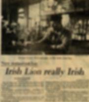 Herald Telephone Newspaper 1982 The Irish Lion