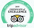 Tripp Advisor Award of Excellence