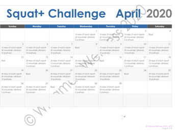 Squats Plus Challenge Week 3