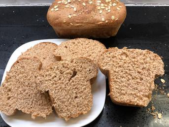 Homemade 100% Whole Wheat Bread