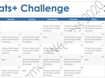 Squats Plus Challenge - CONGRATULATIONS!!