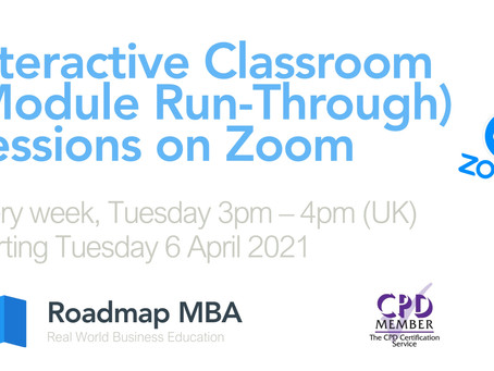 Live Classroom Sessions, starting 6th April 2021