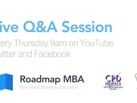 Live Q&A, Roadmap MBA
