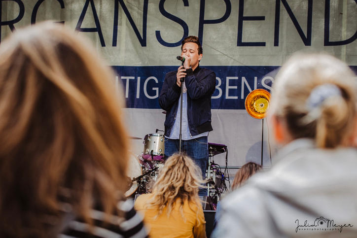Florian Bunke beim Organspendetag 2019 in Kiel