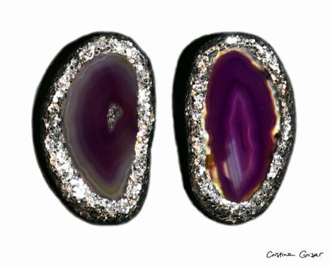 """Agathized"" Silver & Purple"