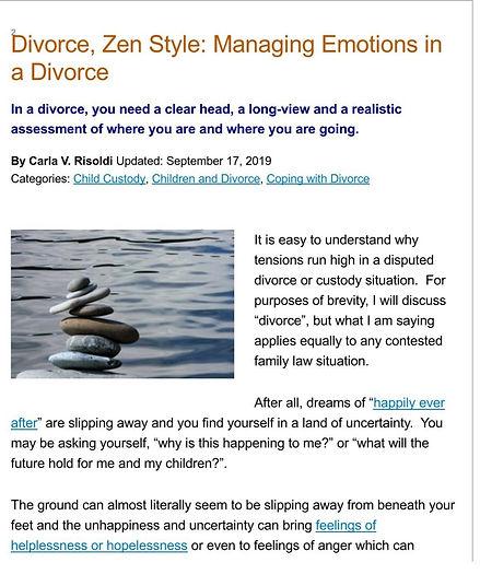 Divorce, Zen Style_ Managing Emotions in