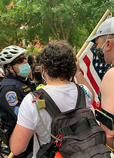 Join us on bike or on foot during protests. We need individuals to help with communications and to monitor movement of the march. Anyone volunteering for security only does as much as they are comfortable with doing.