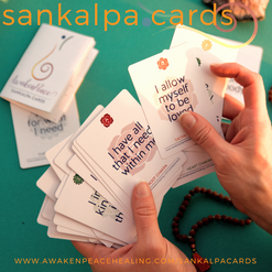 sankalpa cards with Awaken Peace