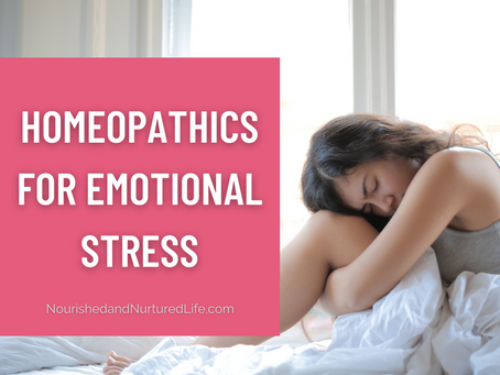3 Homeopathics for Emotional Stress