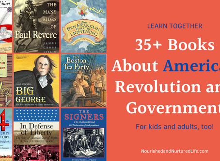 American Revolution and Government Book List (for kids and adults)