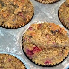 Grain-Free Raspberry Chocolate Muffins