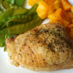 Simple Roasted Chicken Thighs
