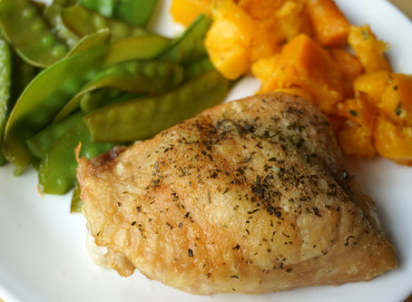 Simple Roasted Chicken Thighs (Keto : AIP : GAPS : paleo : grain-free)