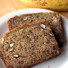Banana Nut Bread (no sweeteners)