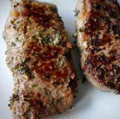 Garlic and Herb Pan-Seared Steak