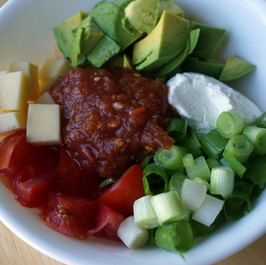 Avocado and Tomato Salsa Bowl