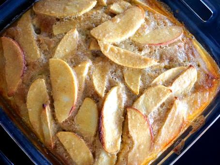 Apple Custard Cake (grain-free : gluten-free : no refined sweeteners)